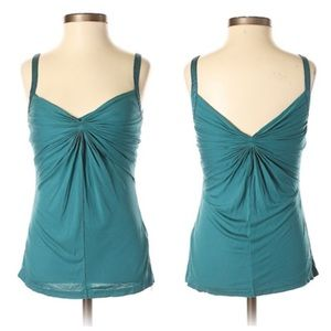 Ted Baker Teal Ruched Sleeveless Tank Top 0/2 for sale